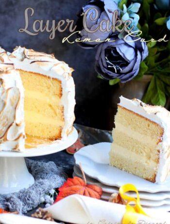 Recette de gâteau layer cake creme citronnee