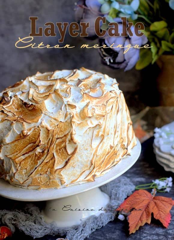 Gateau d'anniversaire layer cake au citron