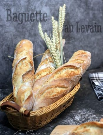Pain baguette au levain naturel