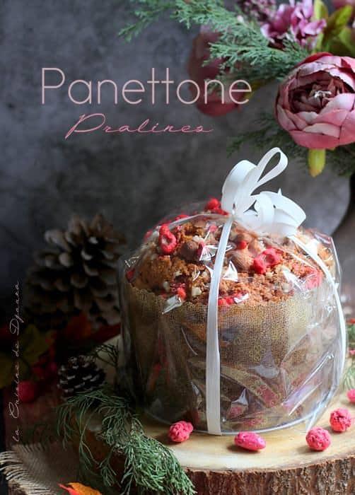 panettone avec des pralines et macaronade