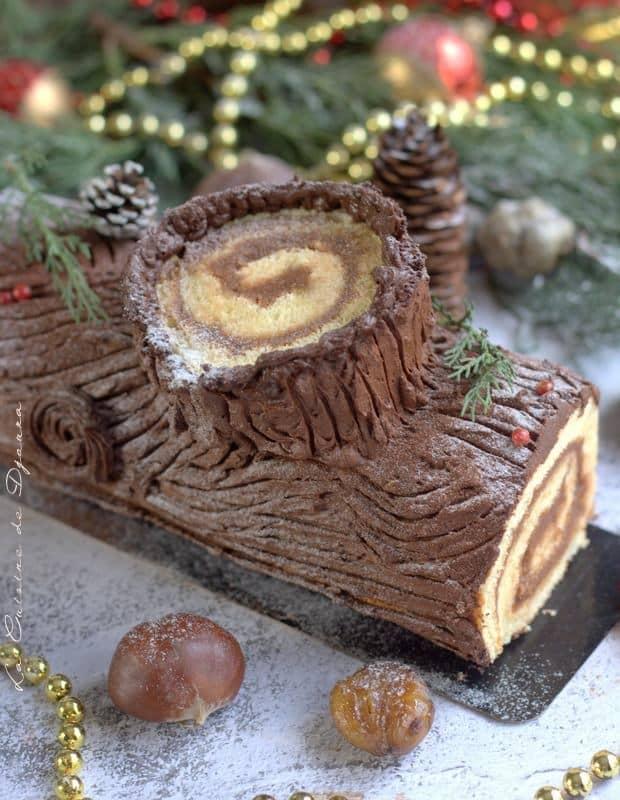 buche rondin de bois chocolat