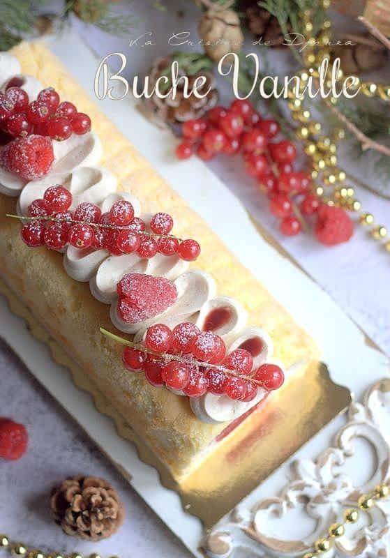Recette de bûche insert fraises mousse bavaroise vanille