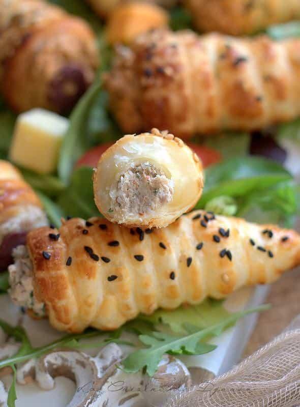 Cornets feuilletés pour buffet apéritoire de noel