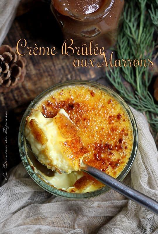 Creme brulee caramelisee à la crème de marron