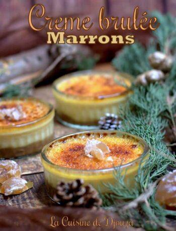Crèmes brûlées à la crème de marron