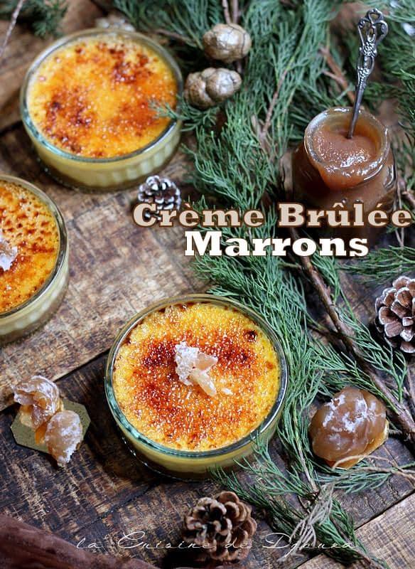 Recette crème brulée aux marrons