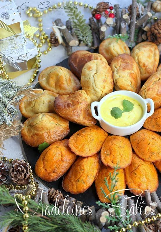 Madeleines salées poivrons et chevre