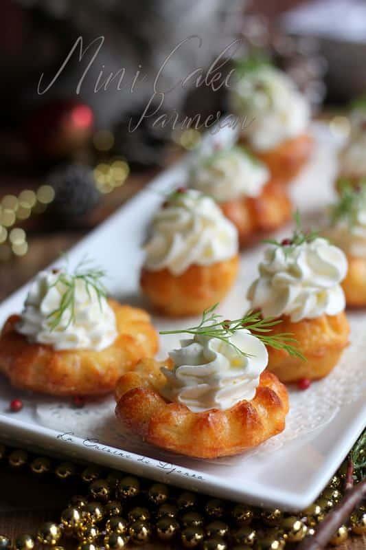 Muffins au parmesan pour un buffet dinatoire