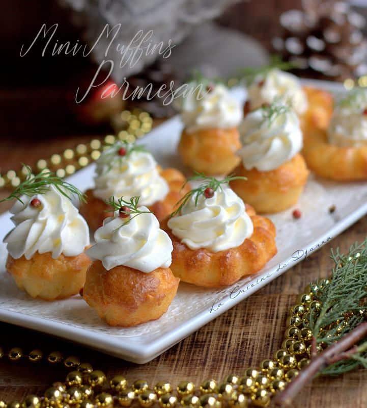 Mini muffins salés chantilly parmesan