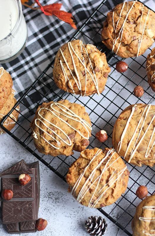 Recette cookies noisettes chocolat