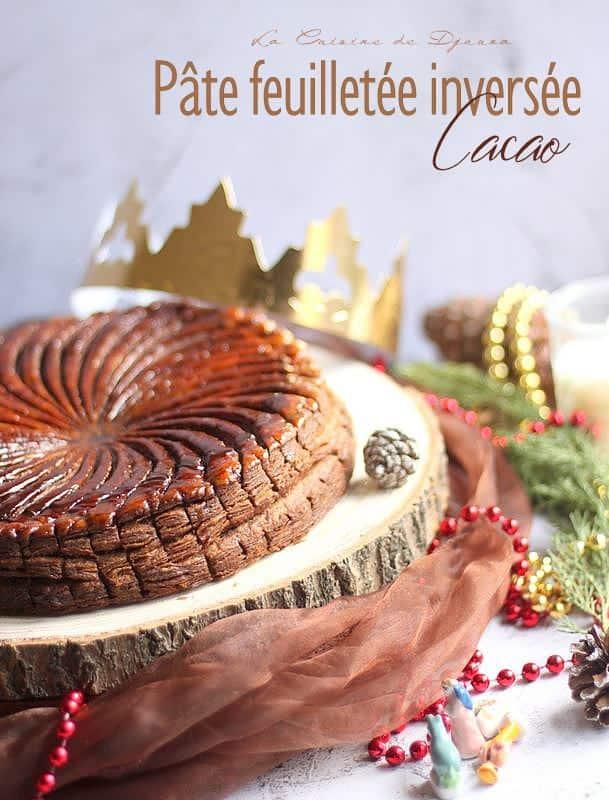 Galette des rois au feuilletage cacao