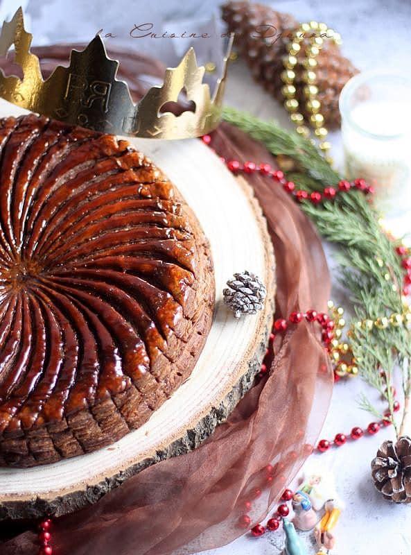 recette galette des rois gourmande cacao pommes poires frangipane