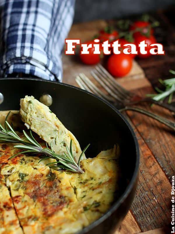 omelette fritatta fromage poulet