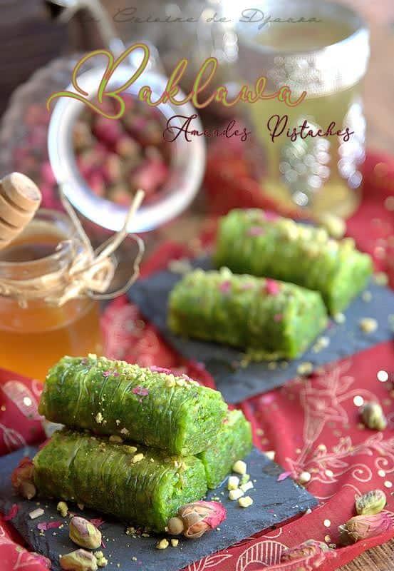 Pâtisserie turque aux pistaches baklawa