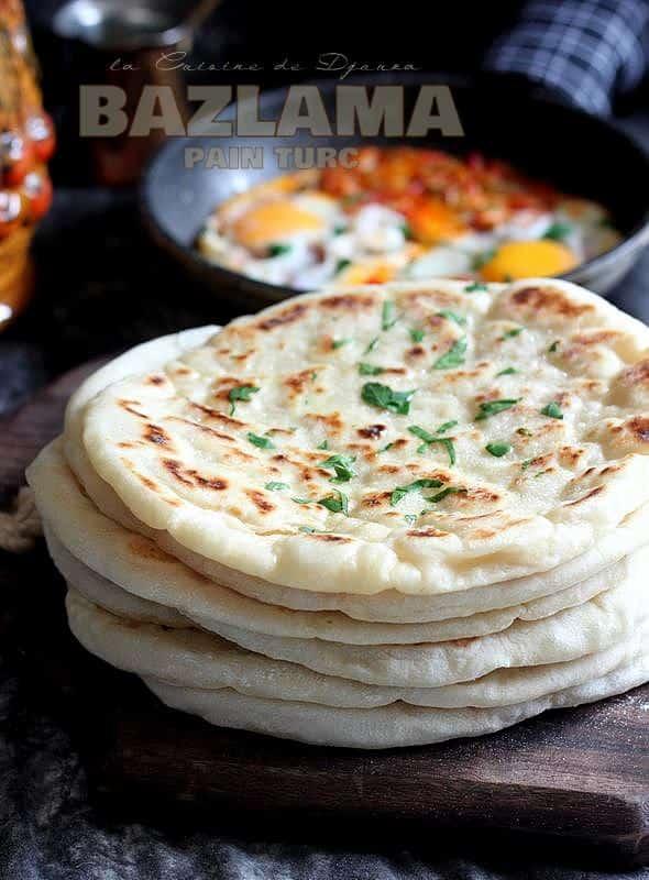 Pain bazlama recette turque