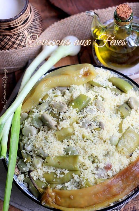 Couscous aux fèves fraîches vapeur