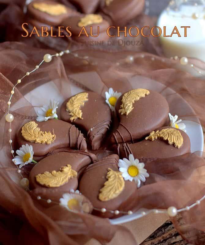 Biscuit sablé au chocolat et orange