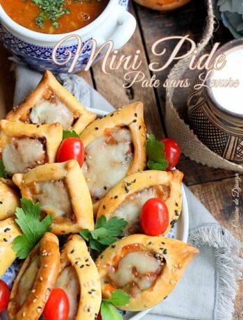 Mini pides avec pâte express sans repos