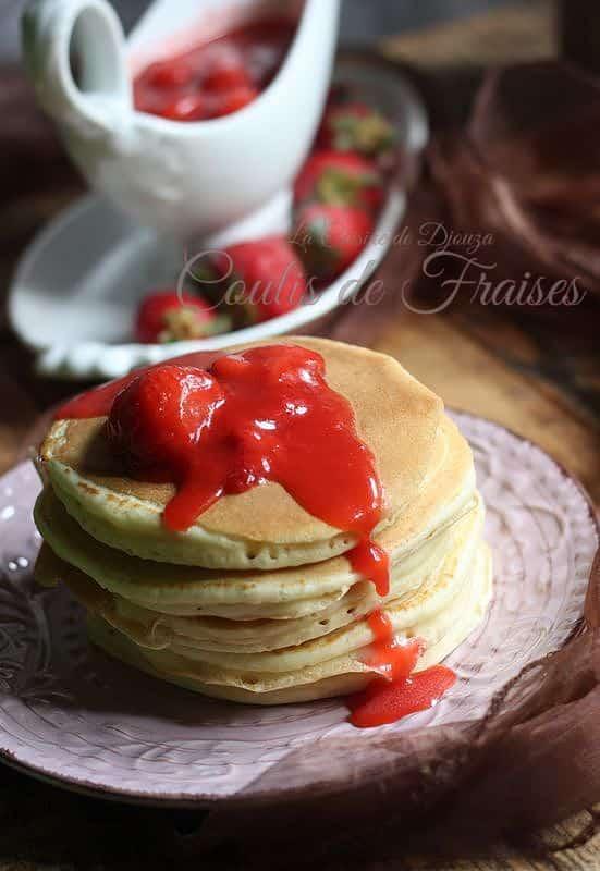 purée de fraises pour accompagnement