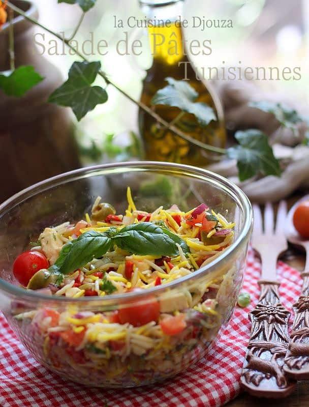 Pâtes tunisiennes hlalem en salade