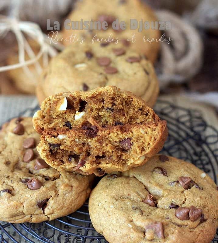 Biscuits américains cookies au chocolat