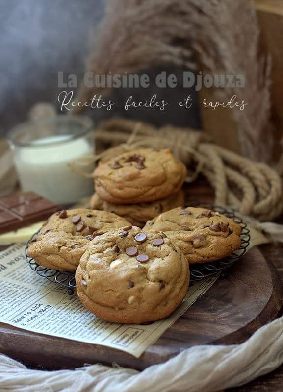 Recette de biscuits cookies 3 chocolat