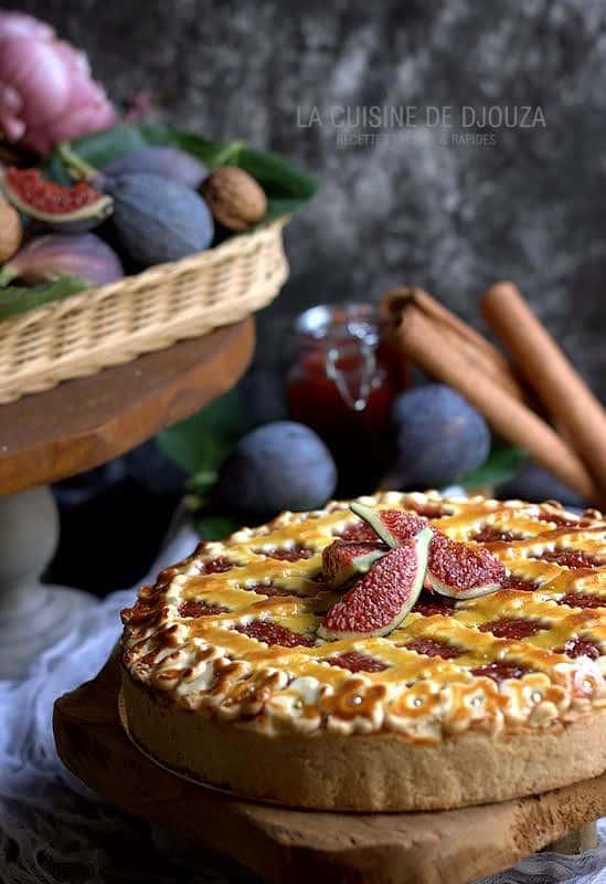 gateau tarte figues noix